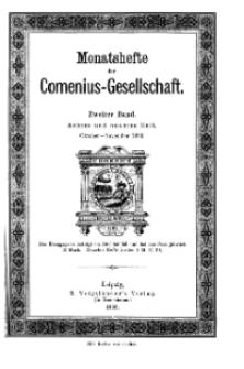 Monatshefte der Comenius-Gesellschaft, Oktober - November 1893, 2. Band, Heft 8-9