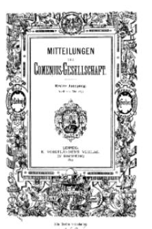 Mitteilungen der Comenius-Gesellschaft, April - Mai 1893, I Jahrgang, Nr. 4-5