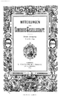 Mitteilungen der Comenius-Gesellschaft, Dezember 1893, I Jahrgang, Nr. 10