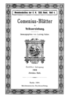 Comenius-Blätter für Volkserziehung, 15 April 1904, XII Jahrgang, Heft 2