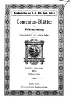Comenius-Blätter für Volkserziehung, 15 Juni 1904, XII Jahrgang, Heft 3