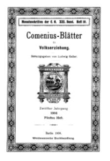 Comenius-Blätter für Volkserziehung, 15 Dezember 1904, XII Jahrgang, Heft 5