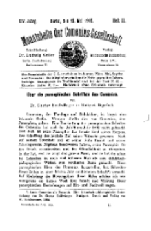Monatshefte der Comenius-Gesellschaft, 15 Mai 1905, 14. Band, Heft 3