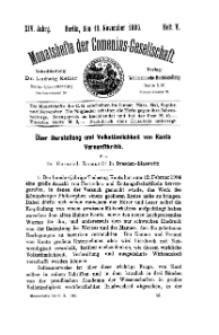 Monatshefte der Comenius-Gesellschaft, 15 November 1905, 14. Band, Heft 5