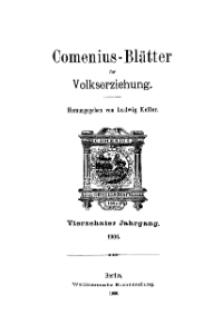 Comenius-Blätter für Volkserziehung, 1906, XIV Jahrgang, Inhalt