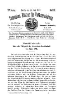 Comenius-Blätter für Volkserziehung, 15 Juni 1906, XIV Jahrgang, Heft 3