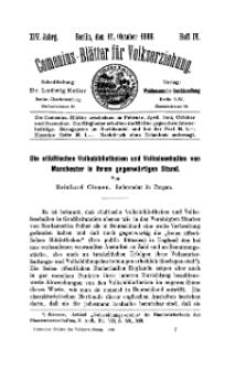 Comenius-Blätter für Volkserziehung, 15 Oktober 1906, XIV Jahrgang, Heft 4