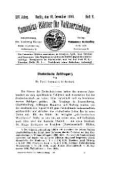 Comenius-Blätter für Volkserziehung, 15 Dezember 1906, XIV Jahrgang, Heft 5