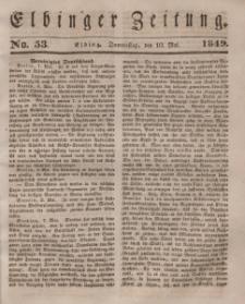Elbinger Zeitung, No. 53 Donnerstag, 10. Mai 1849