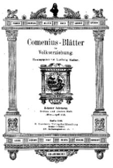 Comenius-Blätter für Volkserziehung, März - April 1902, X Jahrgang, Heft 3-4