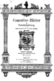 Comenius-Blätter für Volkserziehung, Mai - Juli 1902, X Jahrgang, Heft 5-7