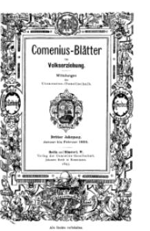 Comenius-Blätter für Volkserziehung, Januar - Februar 1895, III Jahrgang, Nr. 1-2