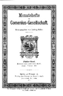 Monatshefte der Comenius-Gesellschaft, Januar - Februar 1896, 5. Band, Heft 1-2