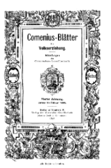 Comenius-Blätter für Volkserziehung, Januar - Februar 1896, IV Jahrgang, Nr. 1-2