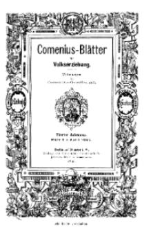 Comenius-Blätter für Volkserziehung, März - April 1896, IV Jahrgang, Nr. 3-4