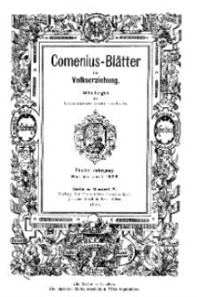 Comenius-Blätter für Volkserziehung, Mai - Juni 1896, IV Jahrgang, Nr. 5-6