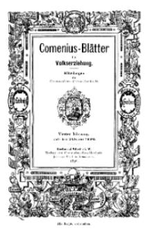 Comenius-Blätter für Volkserziehung, Juli - Oktober 1896, IV Jahrgang, Nr. 7-8