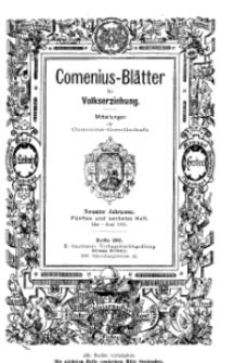 Comenius-Blätter für Volkserziehung, Mai - Juni 1901, IX Jahrgang, Nr. 5-6