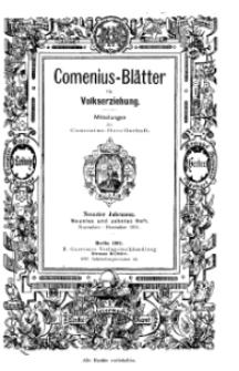 Comenius-Blätter für Volkserziehung, November - Dezember 1901, IX Jahrgang, Nr. 9-10