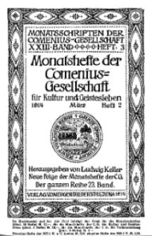Monatshefte der Comenius-Gesellschaft für Kultur und Geistesleben, März 1914, 23. Band, Heft 2