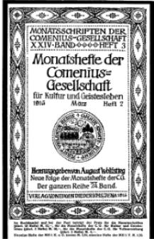 Monatshefte der Comenius-Gesellschaft für Kultur und Geistesleben, März 1915, 24. Band, Heft 2