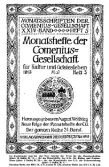 Monatshefte der Comenius-Gesellschaft für Kultur und Geistesleben, Mai 1915, 24. Band, Heft 3