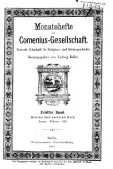 Monatshefte der Comenius-Gesellschaft, Januar - Februar 1903, 12. Band, Heft 1-2