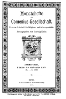 Monatshefte der Comenius-Gesellschaft, Mai - Juli 1903, 12. Band, Heft 5-7