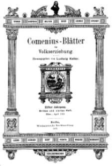 Comenius-Blätter für Volkserziehung, März - April 1903, XI Jahrgang, Nr. 3-4