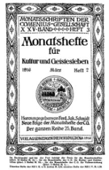 Monatshefte der Comenius-Gesellschaft für Kultur und Geistesleben, März 1916, 25. Band, Heft 2
