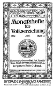 Monatshefte der Comenius-Gesellschaft für Volkserziehung, Juni 1916, 24. Band, Heft 3