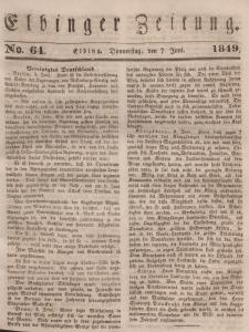 Elbinger Zeitung, No. 64 Donnerstag, 7. Juni 1849