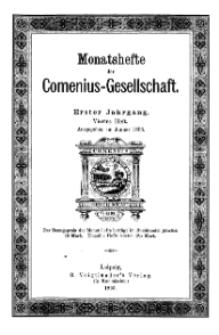 Monatshefte der Comenius-Gesellschaft, Januar 1893, 1. Jahrgang, Heft 4