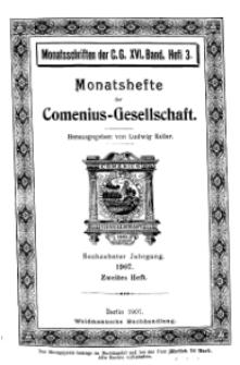 Monatshefte der Comenius-Gesellschaft, 15. März 1907, 16. Band, Heft 2