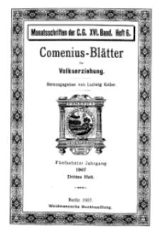 Comenius-Blätter für Volkserziehung, 15. Juni 1907, XV Jahrgang, Heft 3