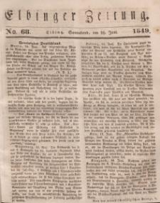 Elbinger Zeitung, No. 68 Sonnabend, 16. Juni 1849