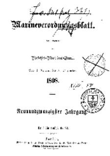 Chronologische Übersicht der im Marineverordnungsblatt...