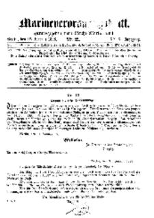 Marineverordnungsblatt, Nr. 2, 1898