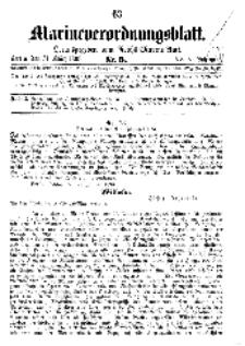 Marineverordnungsblatt, Nr. 5, 1898