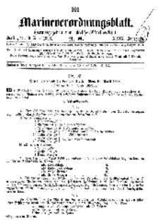Marineverordnungsblatt, Nr.8, 1898