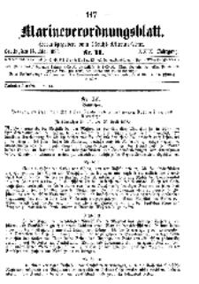 Marineverordnungsblatt, Nr.11, 1898