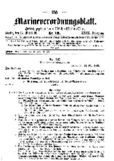Marineverordnungsblatt, Nr.12, 1898