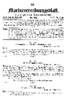 Marineverordnungsblatt, Nr.14, 1898