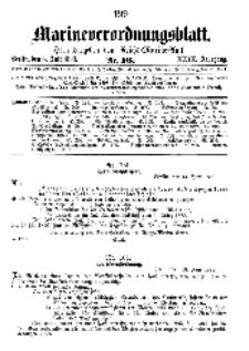 Marineverordnungsblatt, Nr.16, 1898