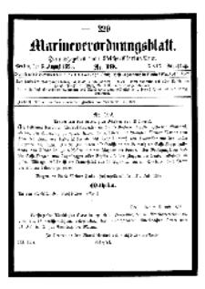 Marineverordnungsblatt, Nr.19, 1898