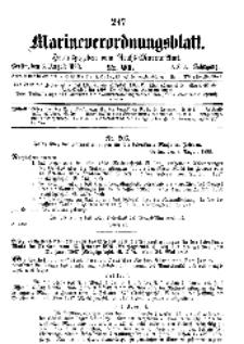 Marineverordnungsblatt, Nr.21, 1898