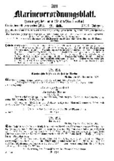 Marineverordnungsblatt, Nr.23, 1898