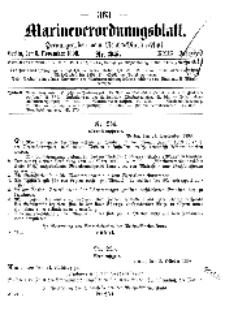Marineverordnungsblatt, Nr.25, 1898