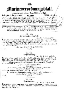 Marineverordnungsblatt, Nr.28, 1898