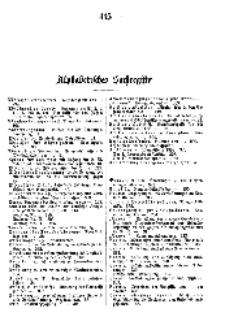 Alphabetisches Sachregister 1898